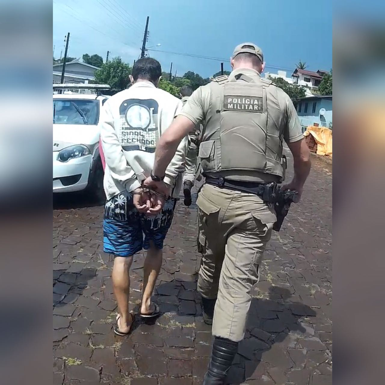 Polícia Militar cumpre mandado de Prisão em São Miguel do Oeste