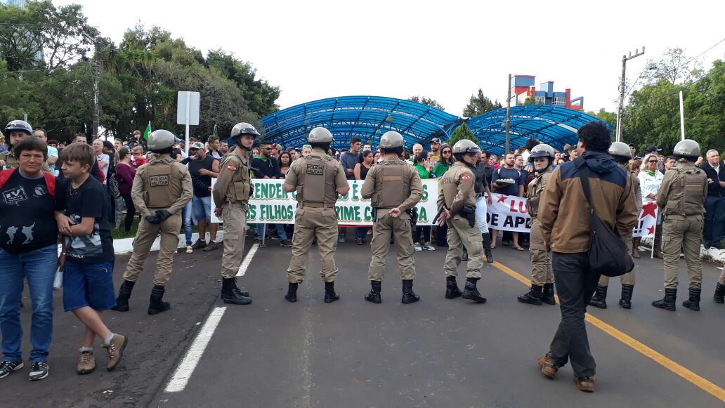 Policiamento é intenso nas proximidades do centro