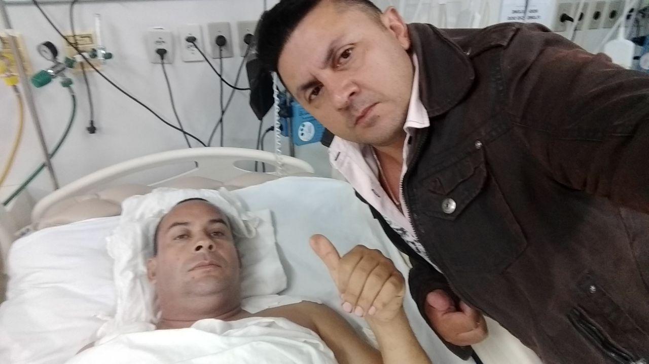 Sargento ferido em assalto no RN apresenta melhora e recebe visita no hospital