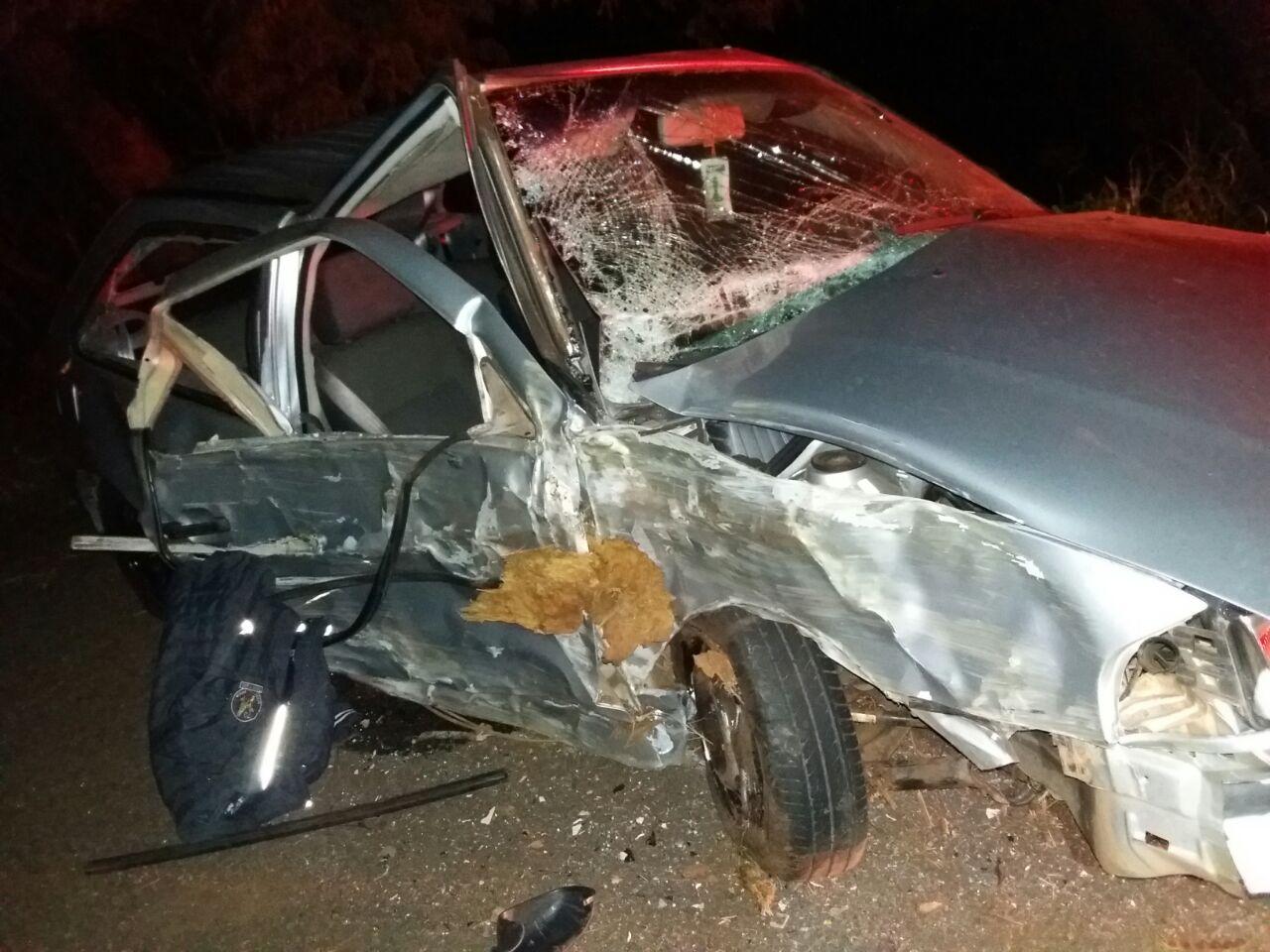 Condutor se envolve em acidente e abandona veículo na BR-282
