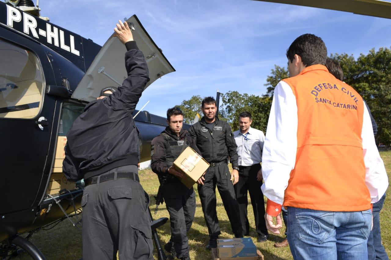 SAER e Polícia Civil auxiliam no transporte de medicamentos