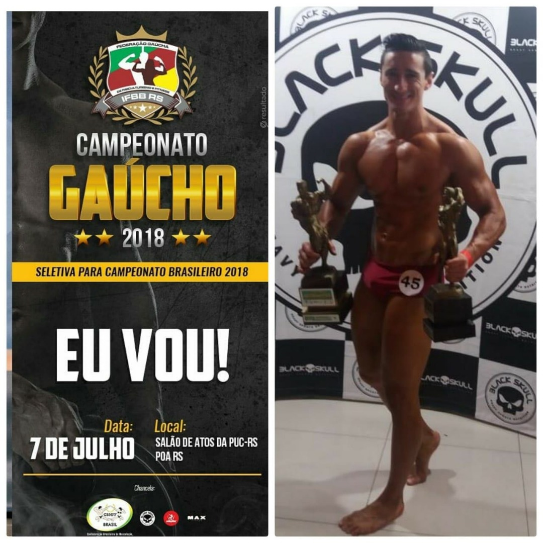 Cedrense conquista título de fisiculturismo no Rio Grande do Sul