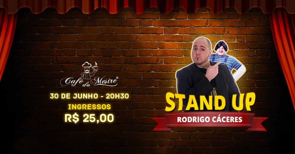 VÍDEO: Café do Mestre apresenta Stand Up Comedy com Rodrigo Cáceres