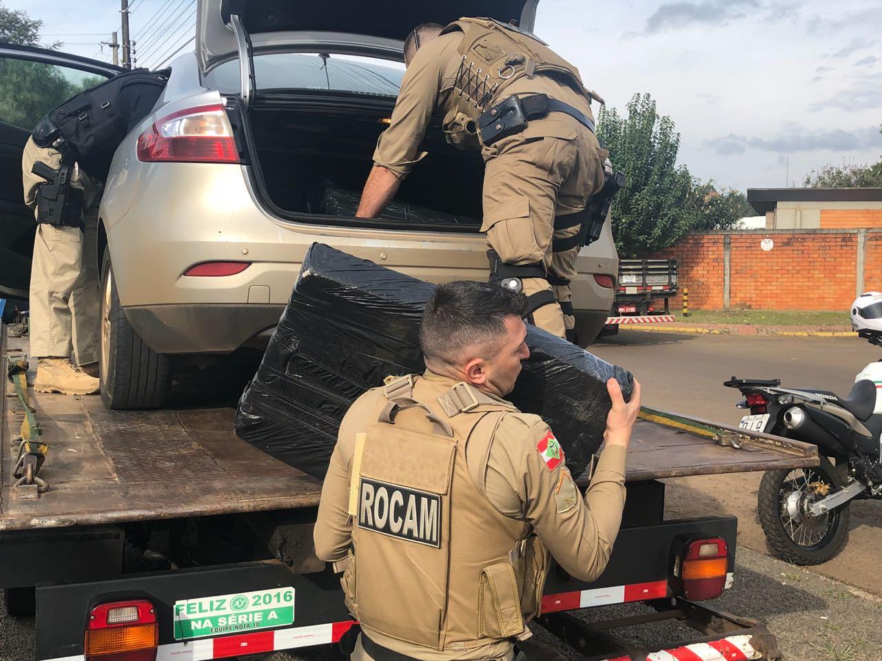Ação conjunta resulta em apreensão de 200 Kg de maconha em Chapecó