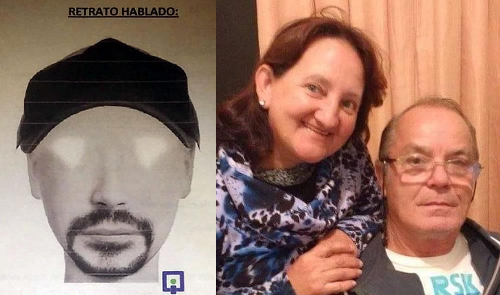 Divulgado retrato falado do suspeito de matar policial da reserva e esposa