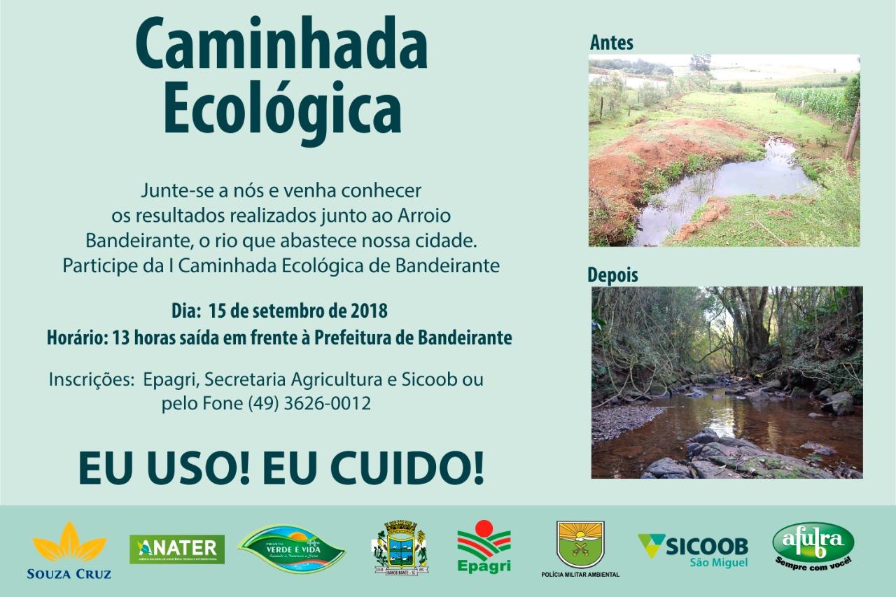 Caminhada ecológica será neste sábado em Bandeirante