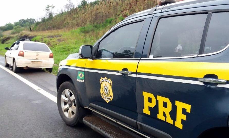 PRF aprende mercadorias argentinas na BR-163 em Dionísio Cerqueira