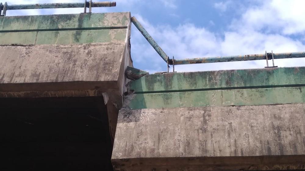 Viaduto que cedeu 2 metros em SP pode desabar