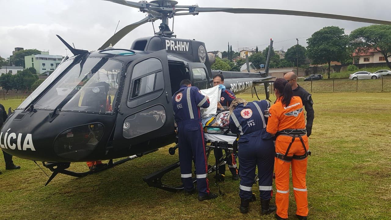 Paciente é transferido em estado grave para Xanxerê