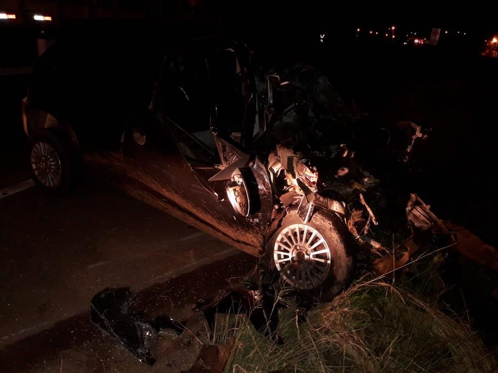 Sargento da Polícia Militar morre em acidente na BR-282