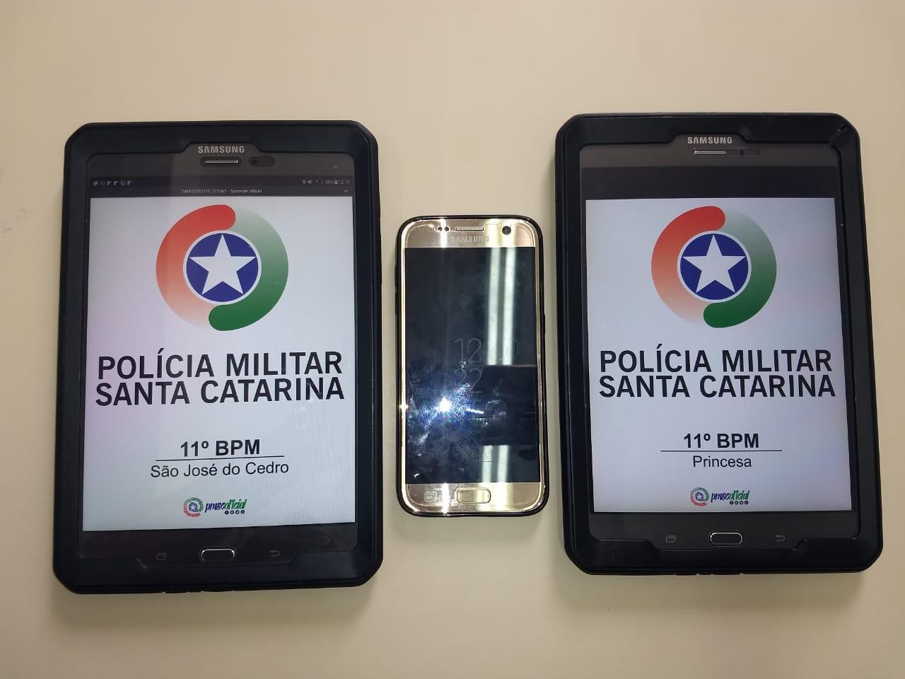 Polícia Militar recupera celular furtado no centro de São José do Cedro