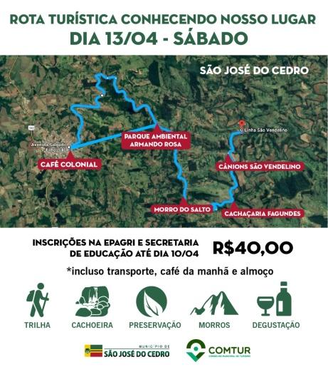COMTUR organiza a 3ª Rota Turista em São José do Cedro