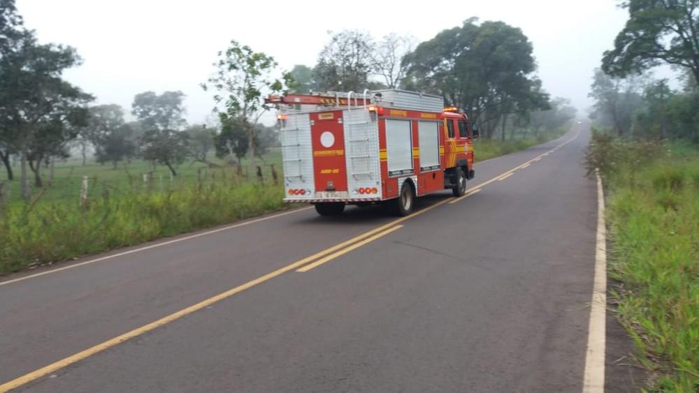 Avião de pequeno porte cai na região de Campo Grande e duas pessoas morrem