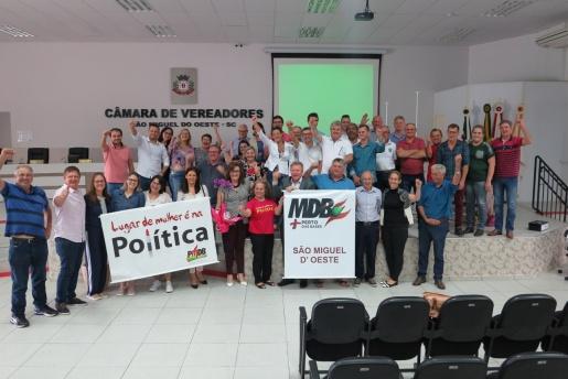 Eleitos novos membros do MDB Mulher e do JMDB em São Miguel do Oeste