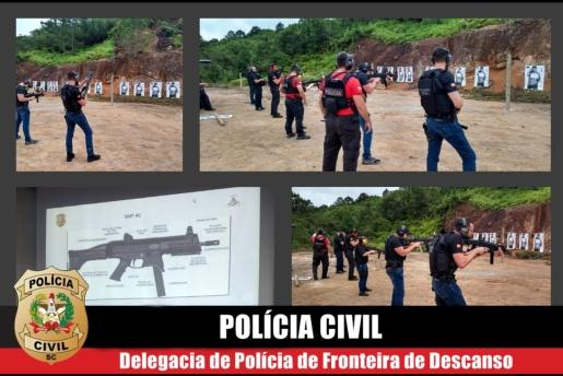 Poder Judiciário e Ministério Público entregam submetralhadora para a Polícia Civil de Descanso
