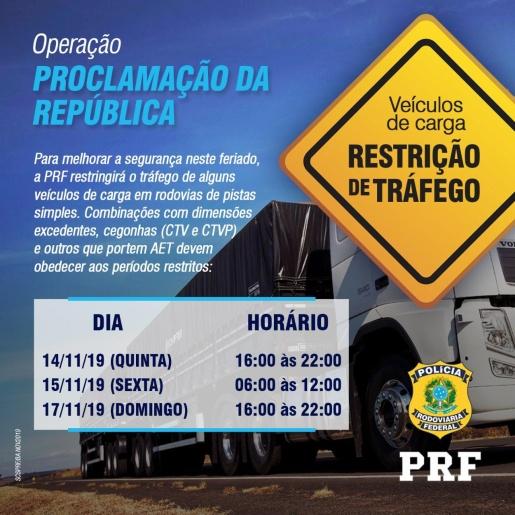 PRF inicia Operação Proclamação da República 2019