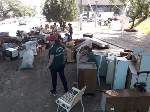 Secretarias recolhem mais de duas toneladas de materiais sólidos no centro
