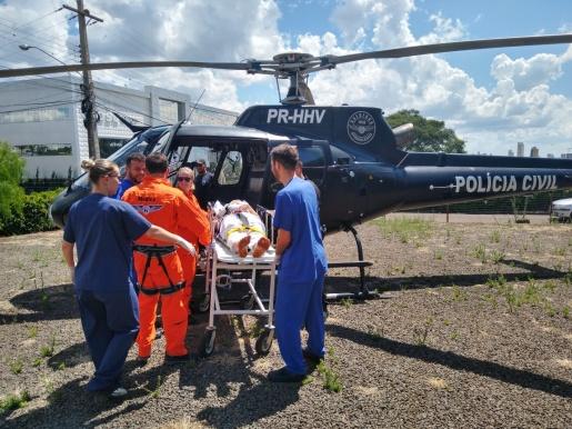 Vítima de ferimento por arma branca é transferido pelo SAER/SARA para Chapecó