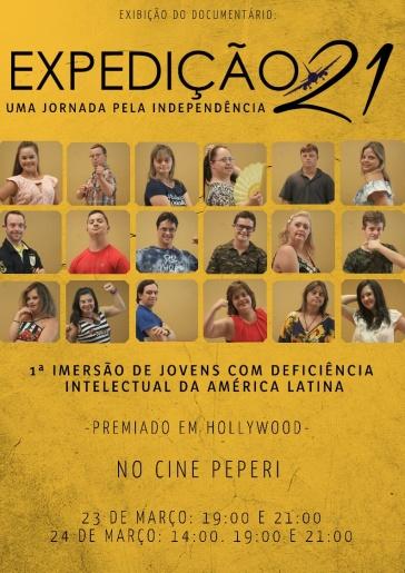 VÍDEO: Documentário Expedição 21 será exibido no Cine Peperi neste mês