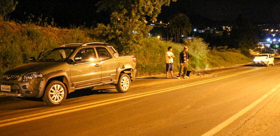 Motorista fica ferido em acidente na BR-163 em Barracão