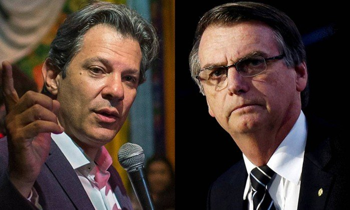 Nova pesquisa aponta Bolsonaro com 31% e Haddad com 21%