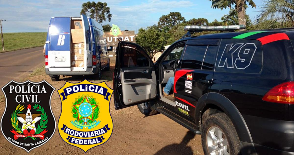 Polícia apreende 60 mil maços de cigarros contrabandeados do Paraguai