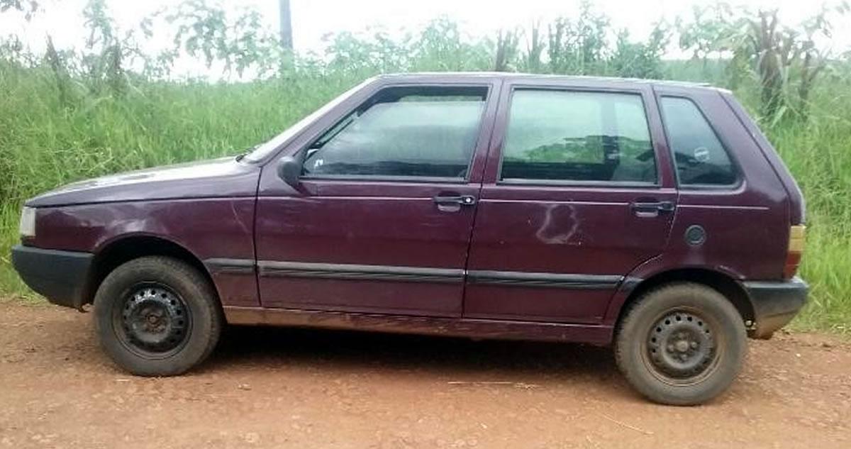 Veículo furtado é localizado às margens da BR-163 em Dionísio Cerqueira