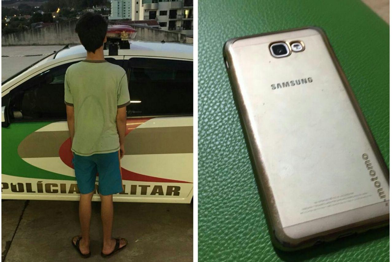 Adolescente é apreendido logo após furtar celular em lanchonete